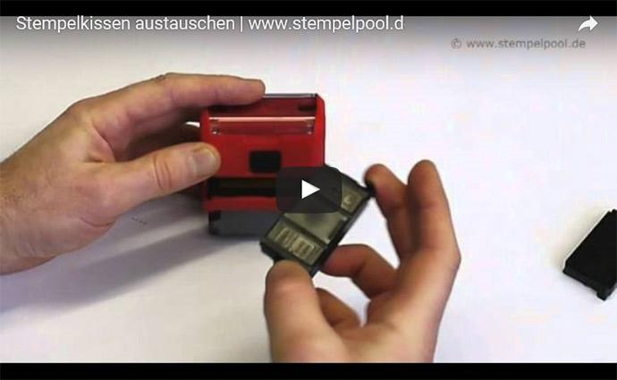 Video-Anleitung zum Austausch eines Stempelkissens