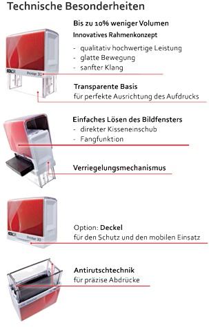 Colop Printer - Technische Besonderheiten