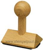 Holzstempel eckig