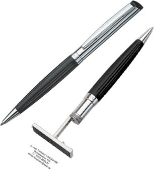 Kugelschreiber mit Textplatte