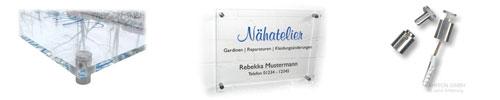 Schilder aus Acrylglas klar