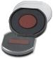 Ersatzstempelkissen rund blau/rot für Trodat Printy 4642