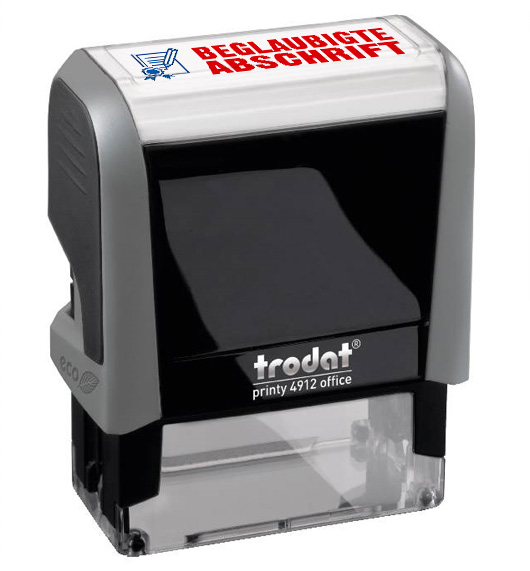 """Trodat Office Printy 4912 """"BEGLAUBIGTE ABSCHRIFT"""""""