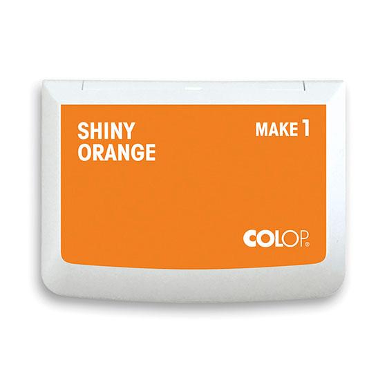 Stempelkissen Colop Make 1 shiny orange, Größe: 9 x 5 cm