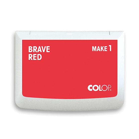 Stempelkissen Colop Make 1 brave red, Größe: 9 x 5 cm