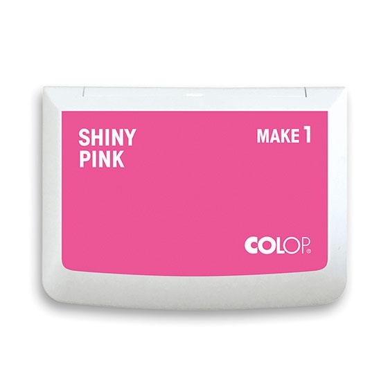 Stempelkissen Colop Make 1 shiny pink, Größe: 9 x 5 cm