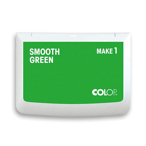 Stempelkissen Colop Make 1 smooth green, Größe: 9 x 5 cm