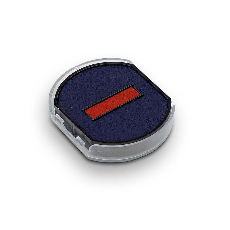 Ersatzstempelkissen rund 6/46030/2 blau/rot für Trodat Printy 46130 Datumstempel