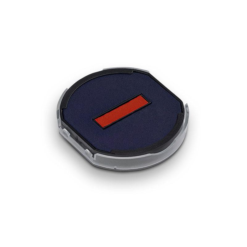 Ersatzstempelkissen rund 6/46045/2 blau/rot für Trodat Printy 46145 Datumstempel
