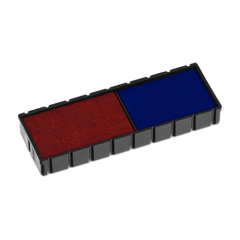 Ersatzstempelkissen E/12/2 - blau/rot