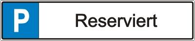 """Parkplatz-Reservierungsschild """"Reserviert"""" (Alu 52x11cm)"""