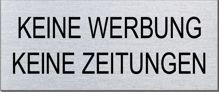 """Briefkastenschild """"Keine Werbung/Zeitungen"""" Format 60 x 25 mm, selbstklebend"""