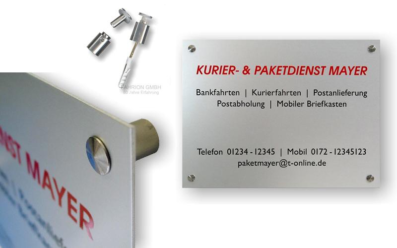 Aluminium Schild (Querformat: 300 x 200 x 2mm) incl. Wandabstandshalter