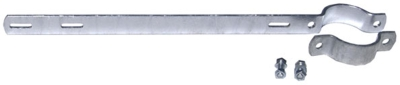Auslegehalterung für Rohrpfosten mit Durchmesser 6,0 cm - Lochabstand: 35,0 cm