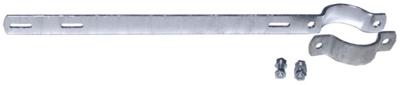 Auslegehalterung für Rohrpfosten mit Durchmesser 6,0 cm - Lochabstand: 50,0 cm
