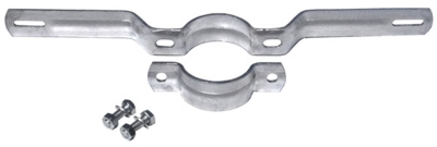 Rohrschelle, feuerverzinkt - 350 mm Lochabstand, Durchmesser 7,6 cm