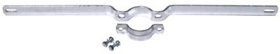Rohrschelle, feuerverzinkt - 700 mm Lochabstand, Durchmesser 6,0 cm