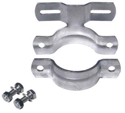 Rohrschelle, feuerverzinkt - 70 mm Lochabstand, Durchmesser 7,6 cm