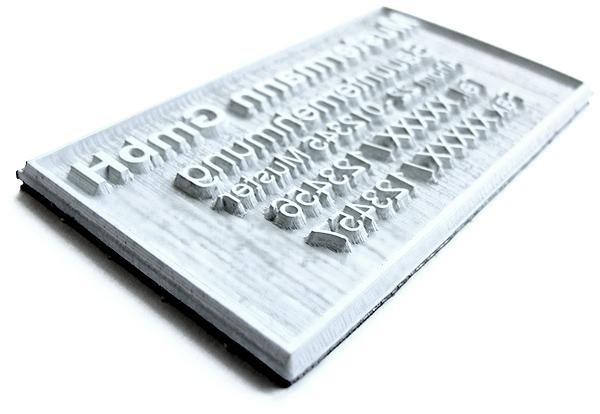 Textplatte für Colop Pocket Stamp 20