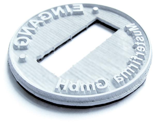 Textplatte für Trodat Professional 54045 Datumstempel oval 45x30 mm