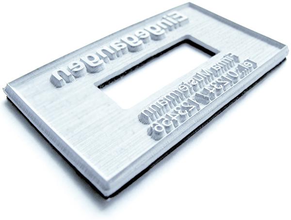 Textplatte für Trodat Professional Datumstempel 5480
