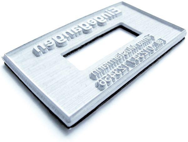 Textplatte für Trodat Professional Doppeldatumstempel 54126/PL