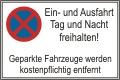 Schild Halteverbot (Ein- und Ausfahrt...)  Alu 0,8mm, 60x40cm