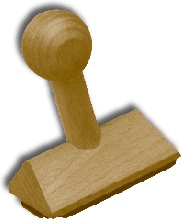 Holzstempel 80x55