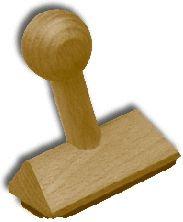 Holzstempel 90x55