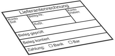 Kontierungs-/Tabellenstempel