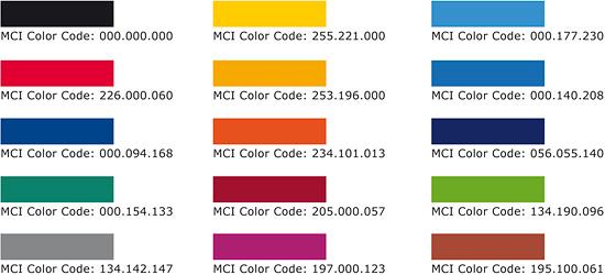 Trodat MCI - das farbspektrum