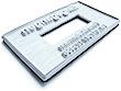 Textplatte für Datumstempel mit Text Trodat Classic 2910/P08