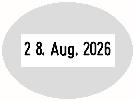 Trodat Professional 54045 Datumstempel Text oval 40x30 mm
