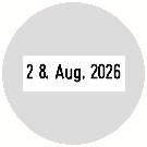 Trodat Professional 54045 Datumstempel Text MCI Ø 40mm rund