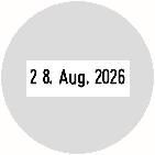 Trodat Professional 54045 Datumstempel Text rund Ø 42 mm