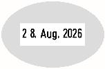 Trodat Professional 54045 Datumstempel Text oval 45x30 mm