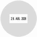 Datumstempel mit Text Trodat Printy 46145