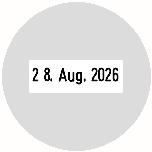 Trodat Professional 54045 Datumstempel Text rund Ø 45 mm