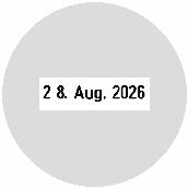 Datumstempel mit individuellem Text Trodat Classic 2910/P30 rund