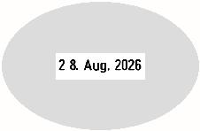 Datumstempel mit individuellem Text Trodat Classic 2910/P20 oval