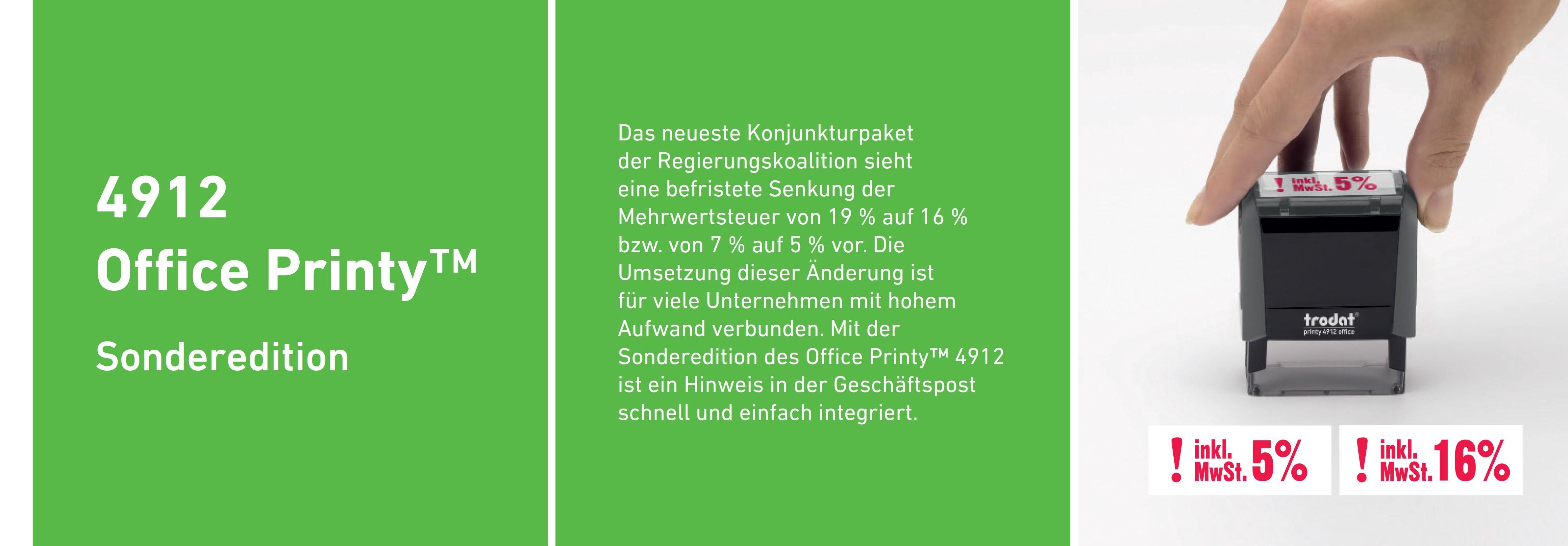 4912 Sonderedition MwSt - Umstellung